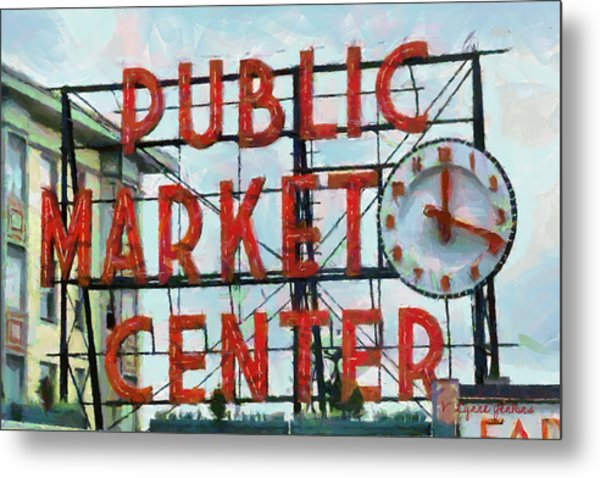 Public Market Center Metal Print
