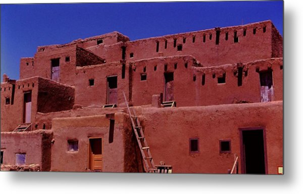 Pueblo Living Metal Print