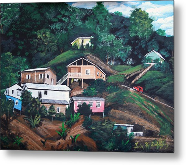 Puerto Rico Mountain View Metal Print
