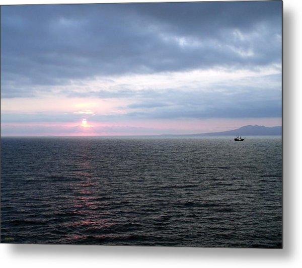 Puerto Vallarta Bay At Sunset Metal Print