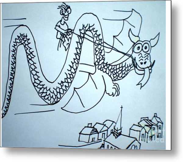 Puff The Magic Dragon Metal Print by Hal Newhouser
