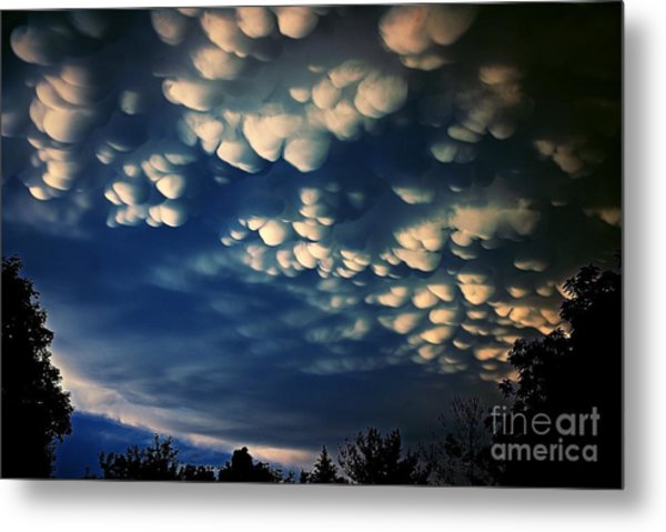Puffy Storm Clouds Metal Print