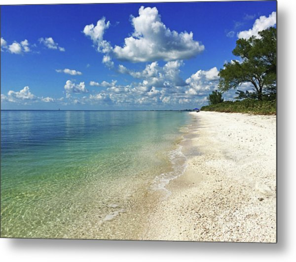 Puffy White Clouds At Delnor-wiggins Metal Print