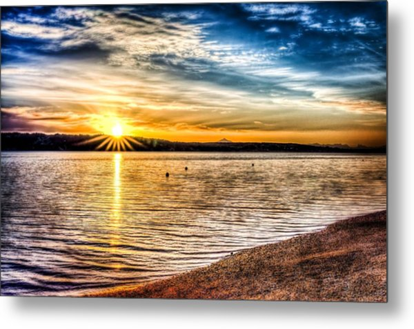 Puget Sound Sunrise Metal Print