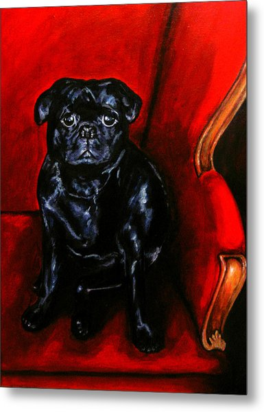 Metal Print featuring the painting Puggsley by Thomas Lupari