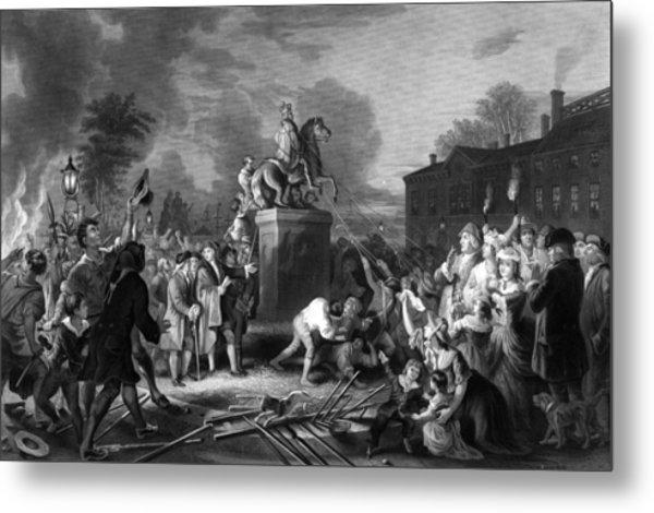Pulling Down The Statue Of George IIi Metal Print