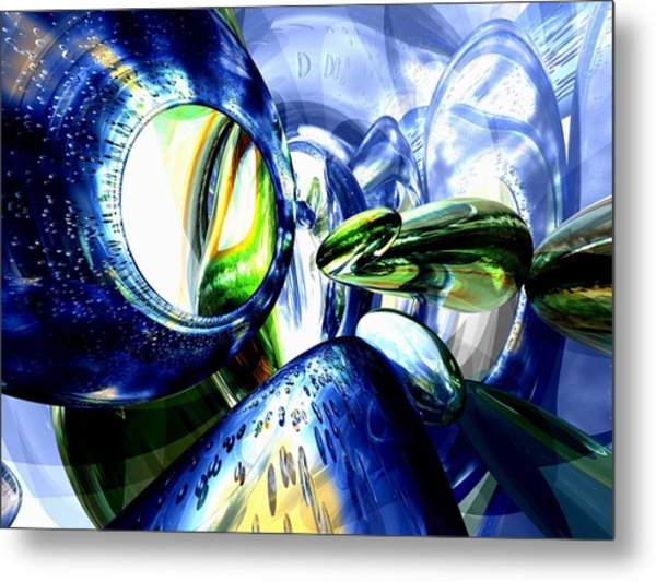 Pulse Of Life Abstract Metal Print