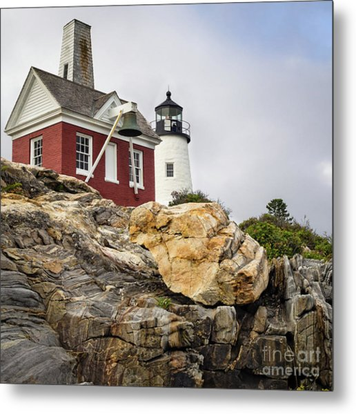 Pumphouse And Tower, Pemaquid Light, Bristol, Maine  -18958 Metal Print