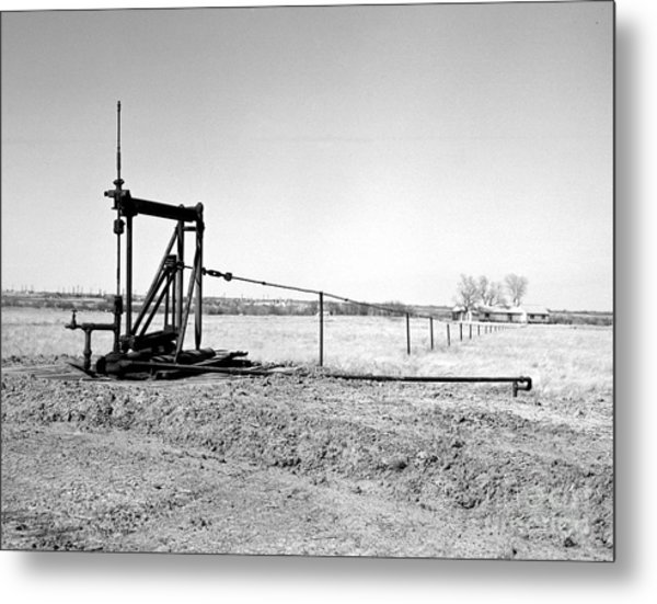 Pumping Oil Metal Print