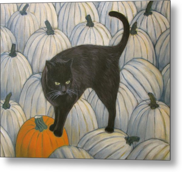 Pumpkin Keeper Metal Print