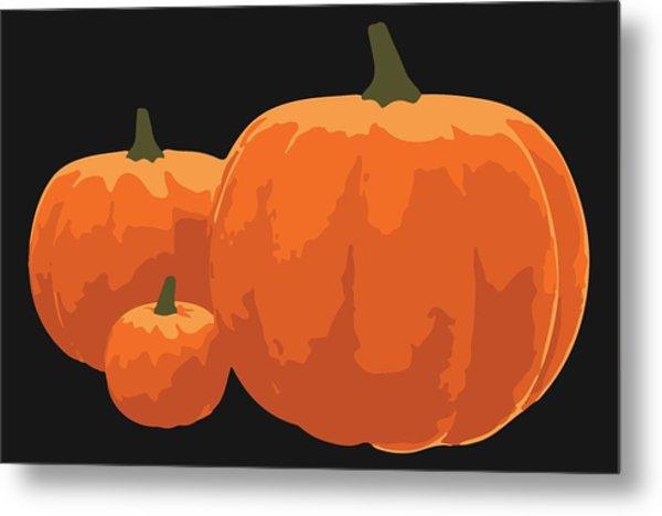 Metal Print featuring the painting Pumpkins by Jennifer Hotai