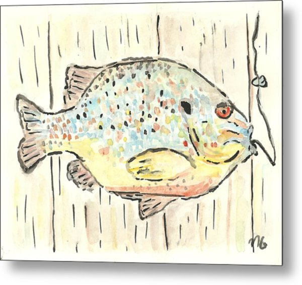 Pumpkinseed Sunfish Metal Print