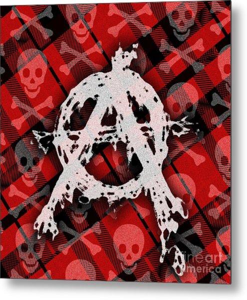 Punk Anarchy Metal Print