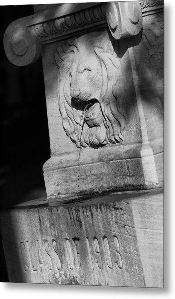 Purdue Lion Fountain Metal Print