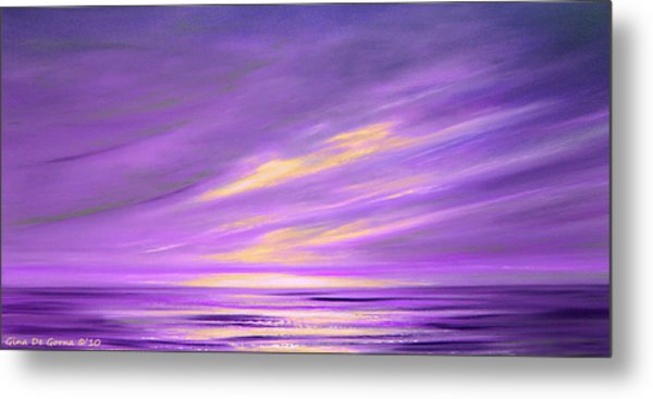 Purple Abstract Sunset Metal Print