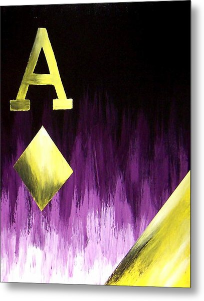 Purple Aces Poker Art2of4 Metal Print by Teo Alfonso
