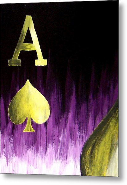Purple Aces Poker Art4of4 Metal Print by Teo Alfonso