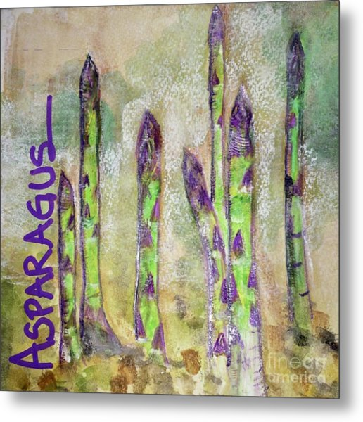 Purple Asparagus Metal Print