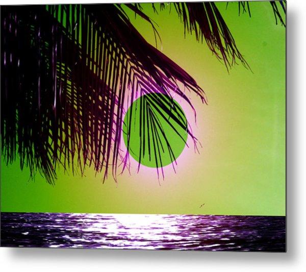 Purple Beach Metal Print by Juana Maria Garcia-Domenech