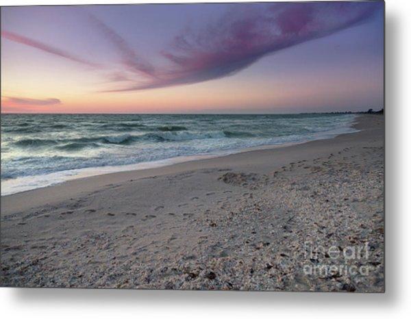 Purple Beach Metal Print