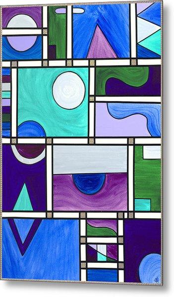 Purple-blue-green Abstract 1 Metal Print