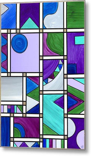 Purple-blue-green Abstract 3 Metal Print