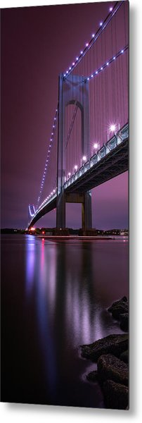 Metal Print featuring the photograph Purple Bridge by Edgars Erglis