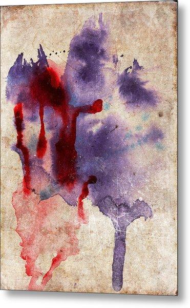 Purple Color Splash Metal Print