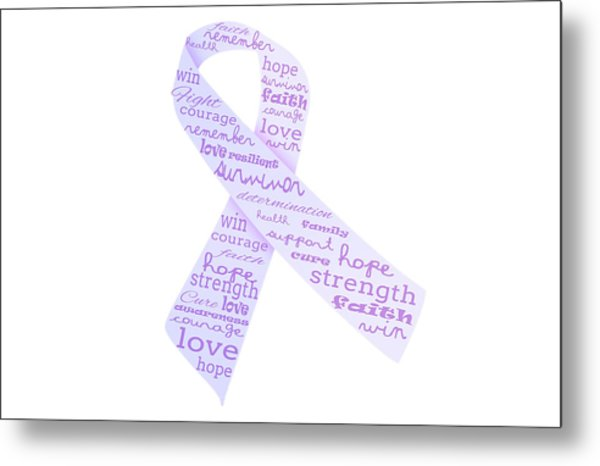 Purple Courage Metal Print
