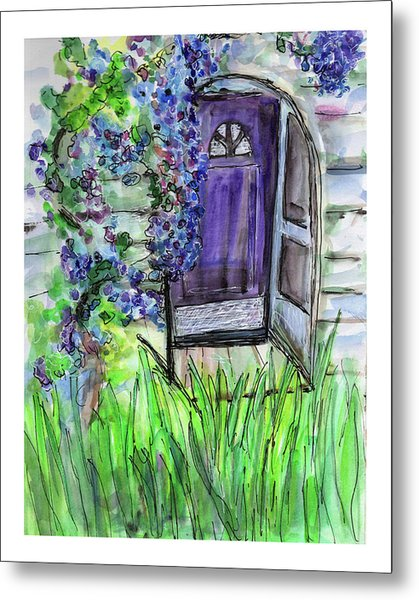 Purple Doorway Metal Print