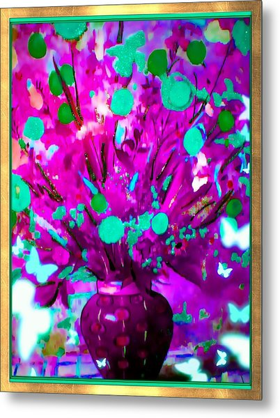 Purple Floral Metal Print by HollyWood Creation By linda zanini