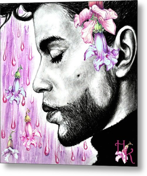 Purple Flower Rain  Prince, Roger Nelson Metal Print