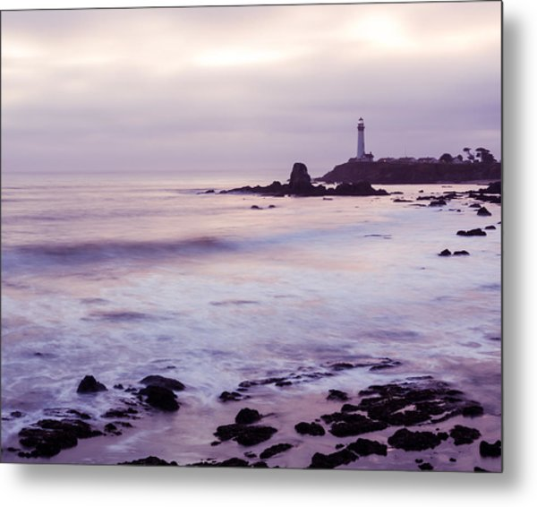 Metal Print featuring the photograph Purple Glow At Pigeon Point Lighthouse Alternate Crop by Priya Ghose