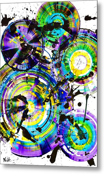 Purple Haze Spheres And Circles 1509.021413 Metal Print