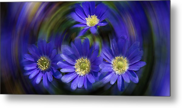 Purple In Nature Metal Print