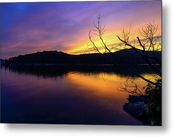 Purple Lake Metal Print