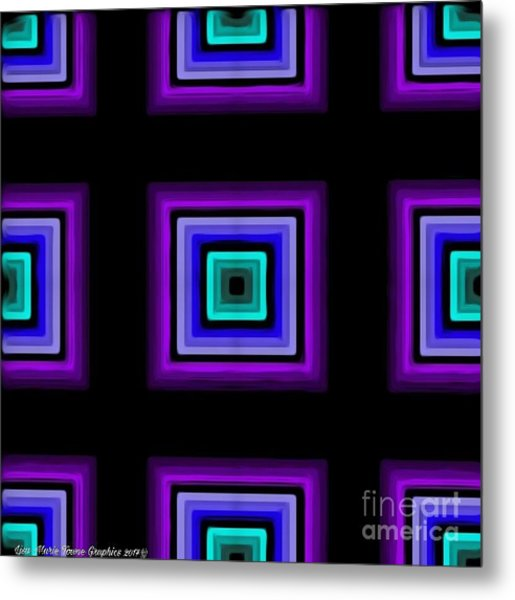 Purple Love Metal Print