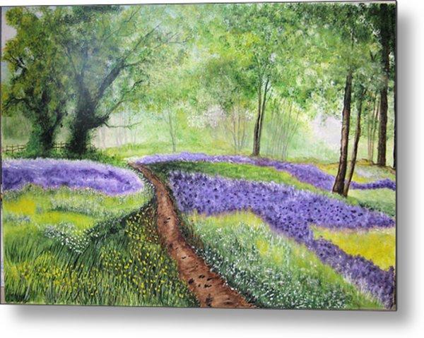 Purple Meadow Metal Print
