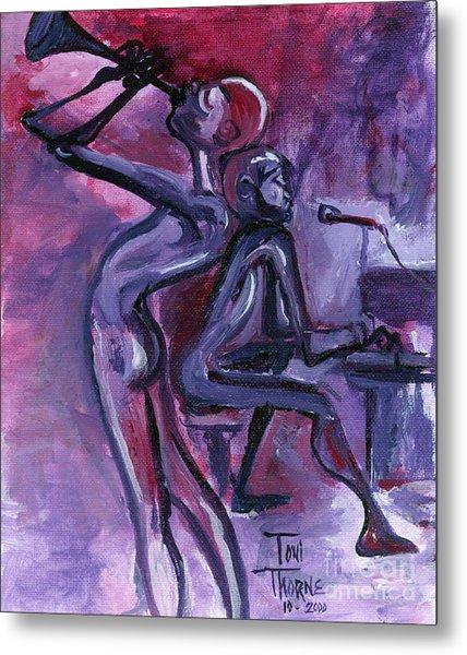 Purple Mood Metal Print by Toni  Thorne