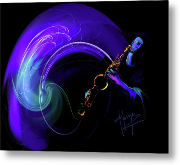 Purple Moon Metal Print