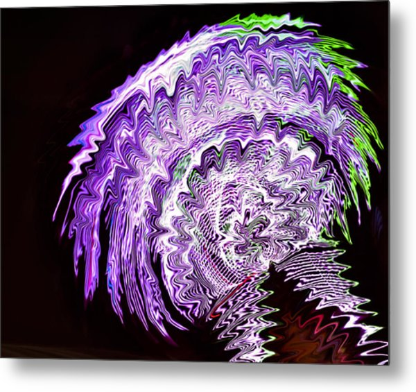 Metal Print featuring the photograph Purple Mushroom by Linda Constant