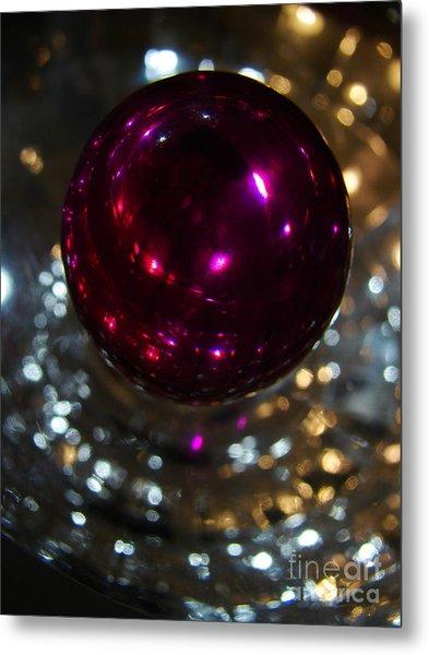 Purple Orb Metal Print