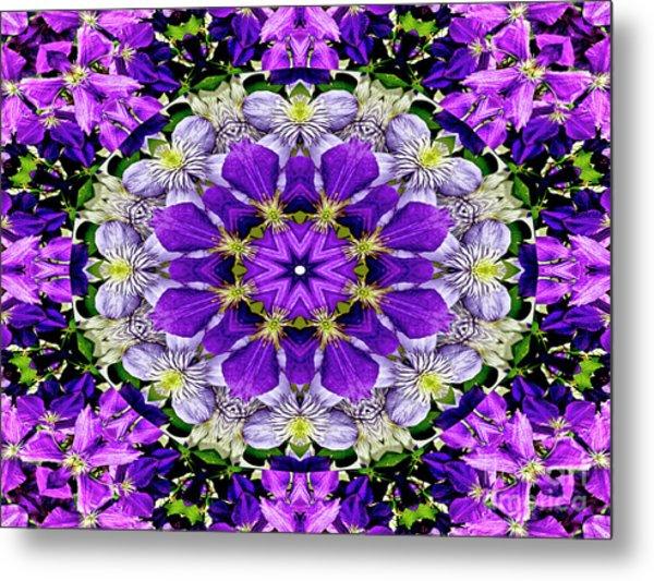 Purple Passion Floral Design Metal Print