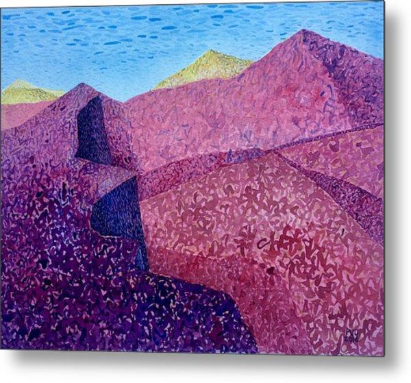 Purple Peak Metal Print by Vaughan Davies