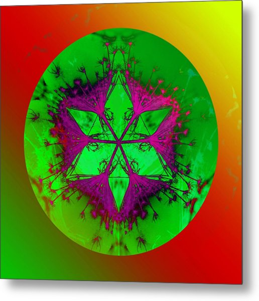 Purple Pentagram Metal Print by Brigita Tekavcic