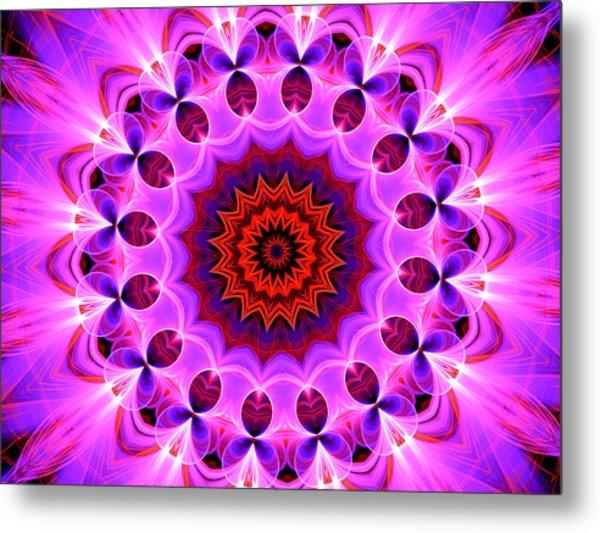 Purple, Pink And Orange Kaleidoscope Metal Print