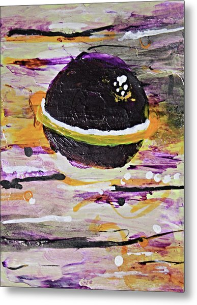 Purple Planet Metal Print