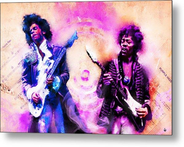 Purple Rain Meets Purple Haze Metal Print