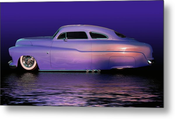 Purple Sled Metal Print