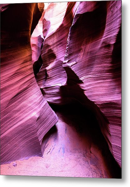 Metal Print featuring the photograph Purple Slot Canyon - Tall by Stephen Holst